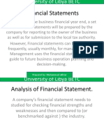 Financial Statements Lecture 3