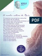 P. Dávila (El Nombre Sublime María)