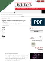 Las mejores universidades de Colombia  