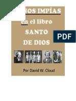 Unholy Hands on Gods Holy Book Manos Impias en Libro Santo de Dios Espaniol