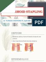 Hemorrhoid Stapling
