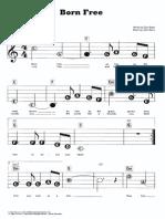 Born Free - Partitura Fácil Para Teclado