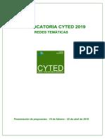 Convocatoria Oficial 2019 Redes Tematicas_v2