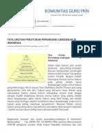 Tata Urutan Peraturan Perundang-undangan Di Indonesia _ Komunitas Guru Pkn