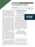 Que Es Humanizar La Salud - Politecnico de Colombia