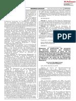 Disponen La Publicacion de Proyecto de Decreto Supremo Que e Resolucion Ministerial n 579 2018 Produce 1727263 1