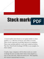 Lecture 10 Stock Markets