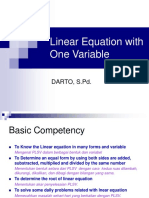 Linear Equality With One Variable