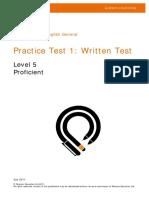 Practice test proficient