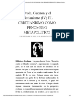 Evola, Guenon y el Cristianismo (IV) EL...ENO METAPOLITICO   Biblioteca Evoliana