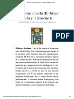 Homenaje a Evola (II) Julius Evola y la Masonería | Biblioteca Evoliana