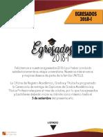 Egresados 2018 -2 Untels