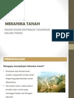 Slide Tsp204 12 Dasar Dasar Distribusi Tegangan Dalam Tanah