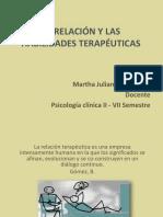 RELACIÓN Y HABILIDADES TERAPÉUTICAS