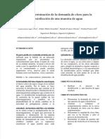 Determinación de la demanda de cloro