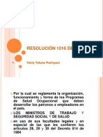 RESOLUCIÓN 1016