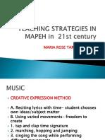 Teaching Strategies in Mapeh Inset Speaker