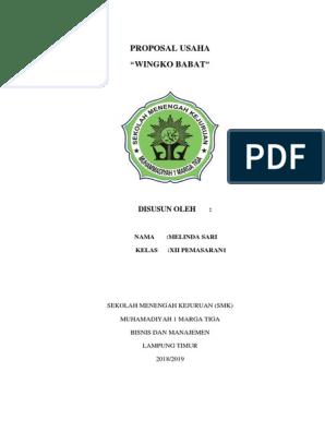 Proposal Usaha Melindaa Docx
