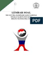 0036 Try Out Pra Osk - Matematika Smp Ii_erick Institute Indonesia