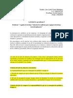 Actividad de Aprendizaje 5 Evidencia 7 Agenda de Trabajo Solución de Conflictos