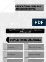 SPEECH ENCRYPTION USING AES ALGORITHM ON FPGA