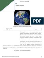 Geografia Física - Mundo Educação