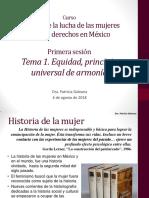 Historia de la Lucha de las Mujeres por sus Derechos en México.