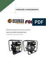Manual de Operacion y Mantenimiento Motobombas