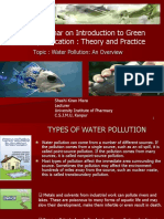 Water Pollution an Overview