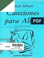 Alberti, R. - Canciones para Altair [ed. Hiperión, 1989]