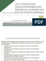 Tugas, Fungsi dan Tanggungjawab Pemegang Program Imunisasi.pptx