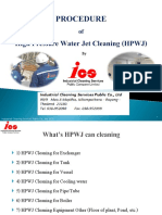 Procedure of High Pressure Water jet Cleaning