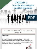 Unidad i Gestion Del Capital Humano