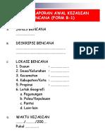 Form Pelaporan Sistem Informasi Bencana