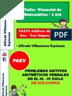 10. PAEVS Aditivos de Dos - Tres Etapas