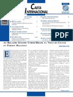 Relações Brasil-EUA na visão do CFR