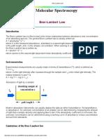 Beer Lambert Law