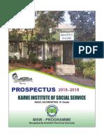 Prospectus 2018 19 May Karve Uni