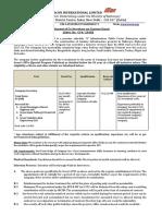 IrconSGTL and IrconPBTL Advt.contract Recrutiments July 2018