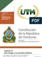Del Sufragio y los Partidos Políticos de Honduras