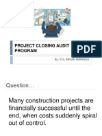 Project Closing Audit Program