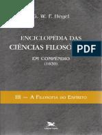 Hegel - Enciclopédia das Ciências Filosóficas. Vol. 3 - A Filosofia do Espírito-Edições Loyola (1995).pdf
