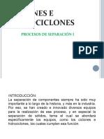Ciclones e hidrociclones