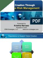 Value Creation Through Enterprise Risk Management