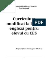 Curriculum Modificat Engleza
