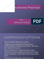 Good Manufactory Practices (GMP)
