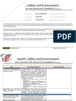 Appendix 6 Sub Contractor HSE Assessment HSEMS-04-SCACC-33