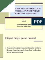Integral Fungsi Pecah Rasional Akar Real