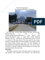 The brief biography of   Hazrat Syed Shamsuddin Ghazi Usmanbad