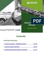 Reporte Feb2019 Estadístico-ASOCEM